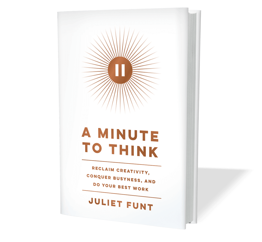 Juliet Funt A Minute To Think Book White Space